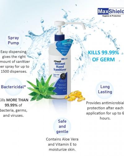 Maxshield Instant Hand Sanitizer Benefits