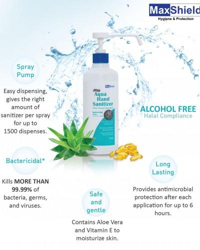 Maxshield Aqua Hand Sanitizer Benefits