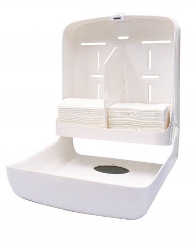 P215 Paper Towel Dispenser Open with Paper